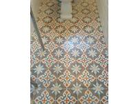 New encaustic Moroccan floor tiles