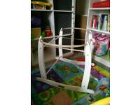 Claire De Lune White Rocking Moses Basket Stand