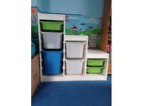 IKEA White Trofast storage unit
