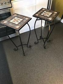 2 x lamp tables plant stands