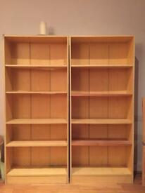 House clearance, shelf units, large mirror, large print and new bathroom cabinet