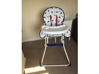 Folding High chair used once
