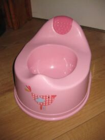 BEAUTIFUL PINK POTTY - ONLY £1.50! buy with pink training toilet seat for £3.50!