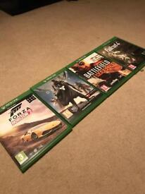 Destiny, Forza horizon 2, Battlefield Hardline and Fallout 4