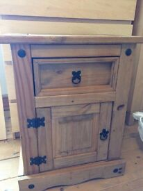 Corona Mexican Pine Bedside Tables x2