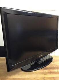 """Samsung 42"""" Lcd Full Hd 1080p Slimline Tv Built In Freeview Remote & Stand Great Condition"""