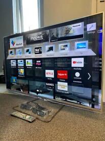 "Panasonic 47"" Smart 3D Full HD 1080p Freeview HD Freesat HD LED TV with remote 4 x 3D glasses"