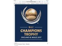 ICC gold tickets for the ICC cricket final 2017 at the Kia oval £300 each t