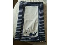 Mother care whale bay changing mat
