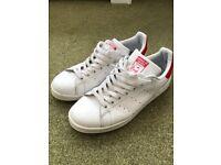 Adidas Stan Smith White/Red Size 9 - £20