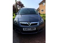 June 07 Vauxhall Zafira, 1 Yr MOT, new cambelt & water pump, SAT NAV, front & rear sensors, Alloys