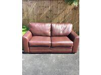 Debenhams brown leather sofa bed