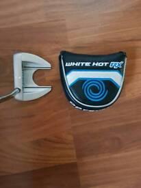 ODYSSEY WHITE HOT RX V-LINE FANG GOLF PUTTER