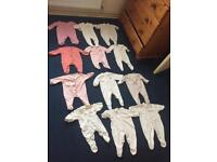 0-3 months baby grows 0-3 months bundle