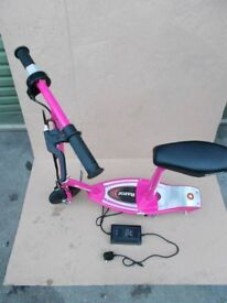 Electric scooter Razor e100 Pink with seat