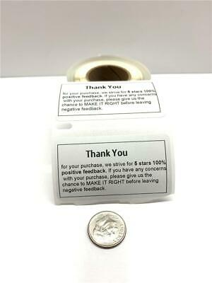Custom Thank You Labels Personalized Stickers For Business Shipping Etc...
