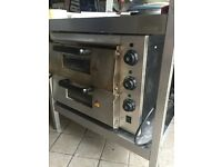 Electric Twin Deck Stone Based Pizza Oven