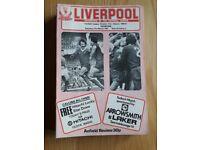 Liverpool Football Club, match day programmes.