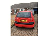 Hyundai Getz red