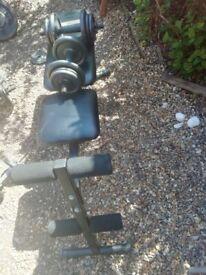 Dumbbells weight bench