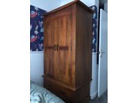Solid wooden wardrobe cost £350 from Oak furniture land accept £99 grab yourself a bargain