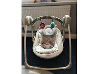 Bright Starts Comfort & Harmony Cozy Kingdom Portable Baby Swing