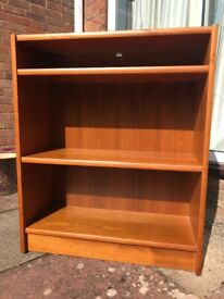 Teak wooden bookcase - living room and Dining Room storage furniture