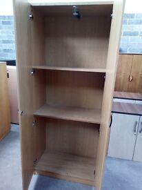 2000x820x440mm two door beech cupboard with 4 shelves, keys and 2 hinged doors£95.00