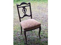 Ornate vintage dining chair