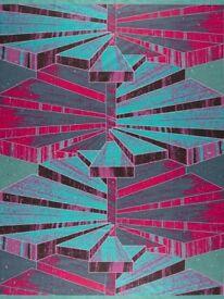 VLISCO Dutch Java Print 2 or 4 Yards Affrican Fabric