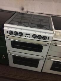 White new home 60cm gas cooker grill & oven good condition with guarantee