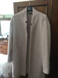 M&S pink duster coat