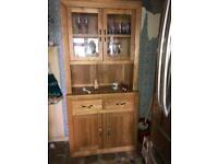 Oak tall unit - Oak Furniture Land - QUICK SALE NEEDED!