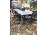 Wooden grey Ikea outdoor table FREE