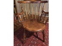 Antique Oak wooden Chair Bow Back
