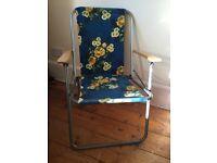 Vintage/retro floral camping/garden chair