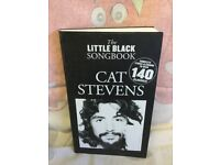 THE LITTLE BLACK SONGBOOK GUITAR CHORDS - CAT STEVENS MUSIC LYRICS BOOK