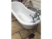 Slipper bath chrome feet