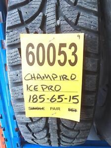 60053) 2-185/65r15 CHAMPIRO ICE PRO WINTER TIRES $100