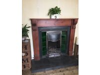 Cast Iron open fireplace and purpose made surround
