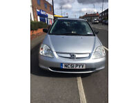 2002 Honda Civic,Service History,Supreb Drive,12 Month MOT, Lady Driver,Ideal First Car