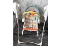 brillant rocked and Bouncer chair hardly used selling CHEAP due to no storage