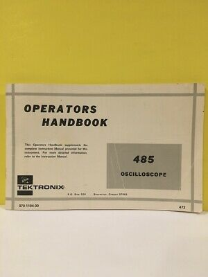 Tektronix 070-1194-00 Operators Handbook 485 Oscilloscope