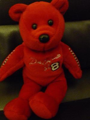Dale Ernhardt Jr 8 Red Plush Bear 2001 23 Karat Gold N Bears Stuffed Toy Doll