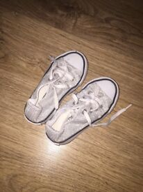Next boots size 4 and Converse size 5