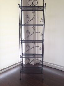 Wrought ironwork storage/plant stand
