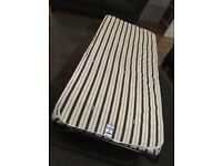 Jaybe single folding bed with mattress.