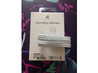Job Lot 100x Apple 8 pin Lightning USB Sync Charger Cable for iPhone 5 5S 6 6plus 7 7plus 8 8plus X