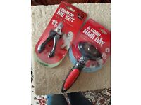 Ball pin slicker and nail clipper for a cat