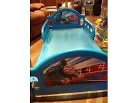 Toddler bed: blue, Thomas the tank engine train bed